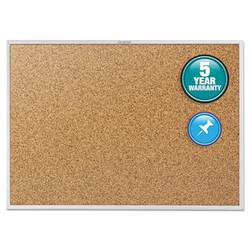 Quartet Classic Series Cork Bulletin Board, 96 X 48, Silver Aluminum Frame 2308