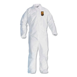 Kleenguard A40 Coveralls, Elastic Wrists/Ankles, X-Large, White 44314
