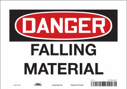 Condor Safety Sign,7 inx10 in,Vinyl  476L02