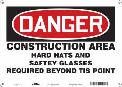 Condor Safety Sign,10 inx14 in,Polyethylene  476J53