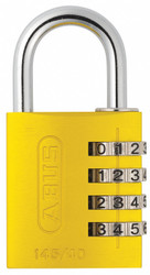 Abus Combination Padlock,1 4/5in,Rectgle,Yelw  145/40 Yellow