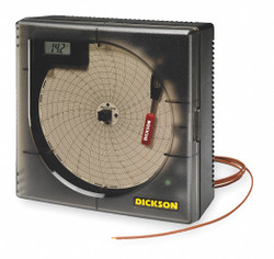 Dickson Circular Chart Recorder,Temperature,6 In  KT6P5