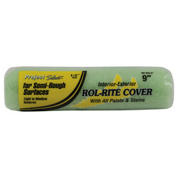 Rol-Rite Roller Cover, 9 In, 1/4 in Nap, Knit Fabric