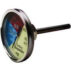 Old Smokey Products Analog 2 In. Stainless Steel Temperature Gauge Thermometer