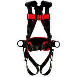 3M Protecta 1161309 Construction Style Positioning Harness, Back & Side D-Ring,