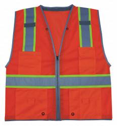 Condor High Visibility Vest,Class 2,4XL,Orange  11K787