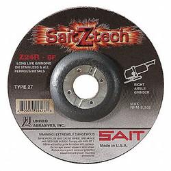 United Abrasives-Sait Depressed Center Wheel,T27,9x1/4x7/8,ZA  22606