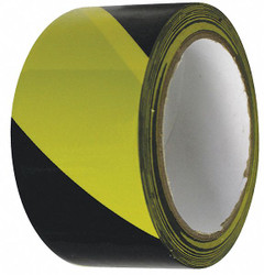 Condor Floor Tape,Black/Yellow,2 inx54 ft,Roll  55302