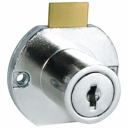 Compx National Cabinet Drawer Dead Bolt Lock,Silr,Round  C8703-C346A-14A