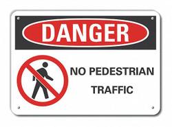Lyle Danger Sign,7 in x 10 in,Aluminum  LCU4-0206-RA_10X7