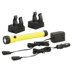 Polystinger Led Haz-Lo Rechargeable Flashlight, 4 Cell, Ac/Dc Charger, Yl