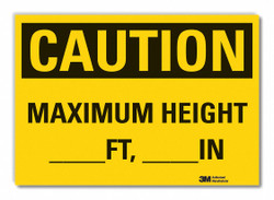 Lyle Clearance Caution Rflctv Label,10inx14in  LCU3-0321-RD_14x10