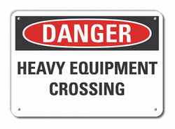 Lyle Traffic Safety Danger Sign,10x14in,Alum  LCU4-0480-NA_14X10