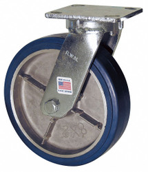 Rwm Kingpinless Plate Caster,Swivel,400 lb.  47-SWB-0420-S