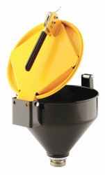 """Pig Drum Funnel,Yellow,13"""" H,11-1/4"""" dia.  DRM1125-YW-NPT"""