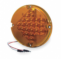 Grote Arrow Lens Turn Lamp,Round,Yellow  53883