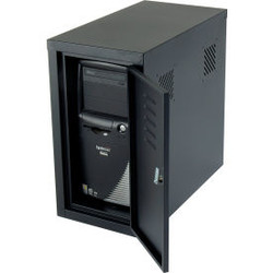 Global Industrial Security Computer CPU Enclosed Cabinet Side Car, Black