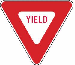 """Lyle Yield Traffic Sign,36"""" x 36""""  R1-2-36DA"""