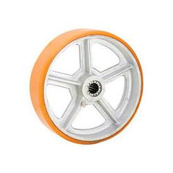 """Global Industrial 6"""" x 2"""" Polyurethane Wheel - Axle Size 5/8"""""""