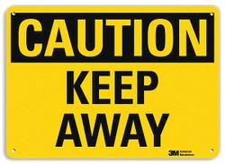 Lyle Caution Sign,10 inx14 in,Plastic  U4-1452-NP_14X10