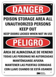 Lyle Danger Sign,14 inx10 in,Aluminum  U1-1053-NA_10x14