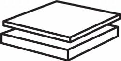 """Sim Supply PlstcSheet,PTFE,6""""x6"""",0.1875""""T,Whte,Opaq  G15-.187F-6X6"""
