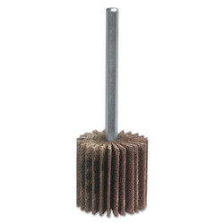 Metal Mini Flap Wheels with Mounted Steel Shanks, 2 X 1 In, 80 Grit, 25,000 Rpm