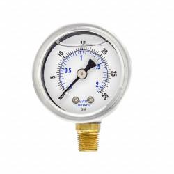 Pic Gauges Pressure Gauge,1/8 in. NPT,1-1/2in  201L-158C