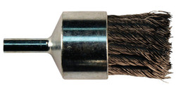 Knot Wire End Brush, Stainless Steel, 1 1/8 in X 0.02 In