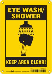 Condor Safety Sign,10 in x 7 in,Polyethylene  485Y19