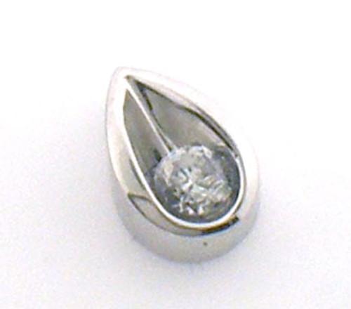 14 karat white gold diamond pendant weighing 1.4 grams, Diamond is approx .25ct tw. H-I, SI2