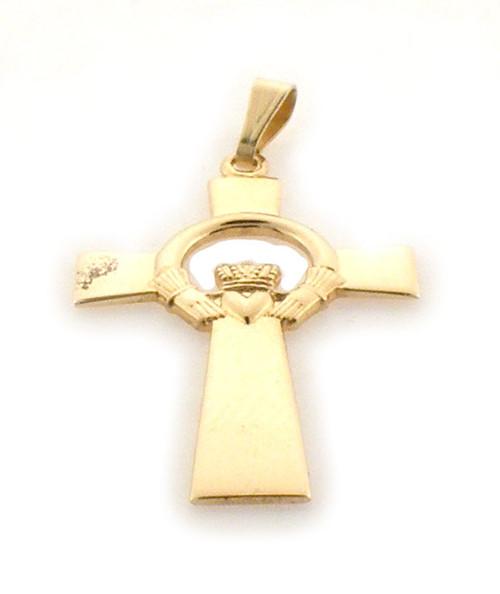 14k gold claddagh cross