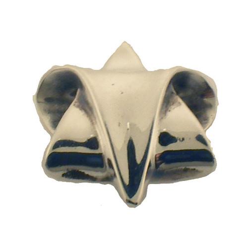 sterling silver star of david. stamped with designer, R. Lugosch.