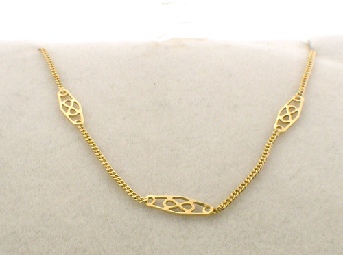 18 inch 14k filigree chain