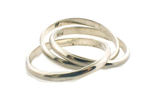 sterling silver rolling ring. size 7