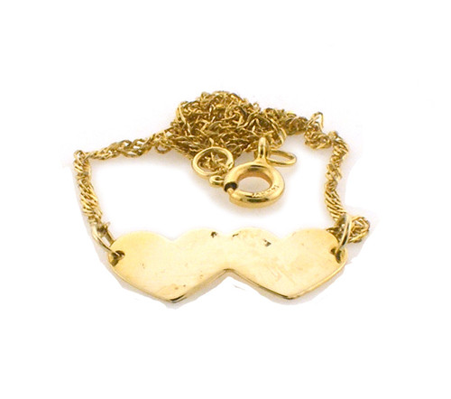 14k gold anklet. weighs 1.4 grams and is 9 inches long