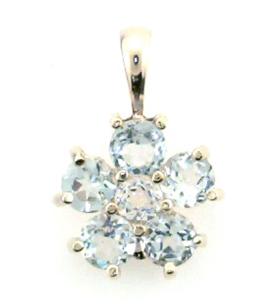 14 karat yellow gold blue topaz pendant weighing 1.9 grams