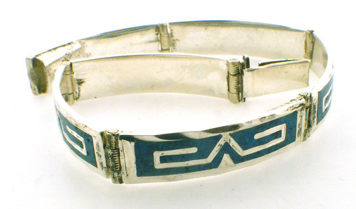 Sterling Silver turquiose bracelet 6.5 inches weighing 16.1 grams