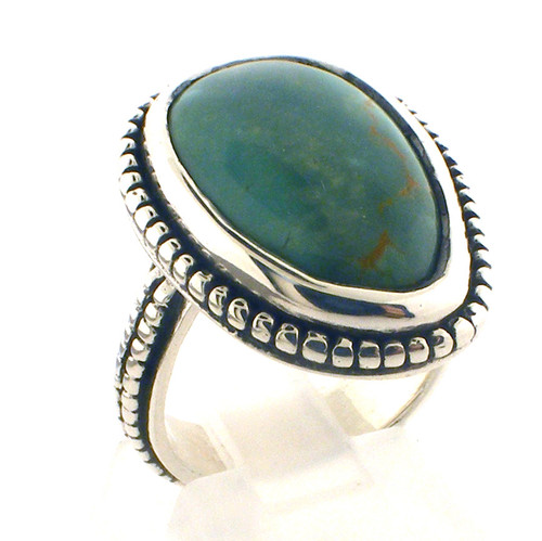 Sterling Silver turquiose ring szie 5