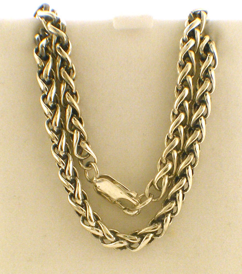Sterling silver 32 inch 4mm round what chain weighing 44.6 grams