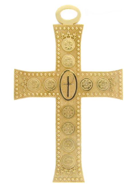 **Permission is needed to purchase**CAD designed pectoral cross. Center has a raised dome with an cross cut into it.   Garnes Cross
