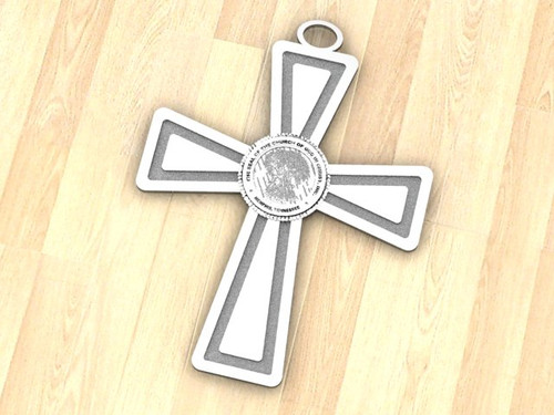 This is the COGIC cross, with the COGIC seal in the center. Cross is 3.5 Inches by 2.63 inches. weight in 14K gold is 60 grams.