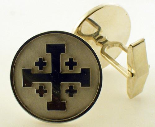 Jerusalem cross cuff links