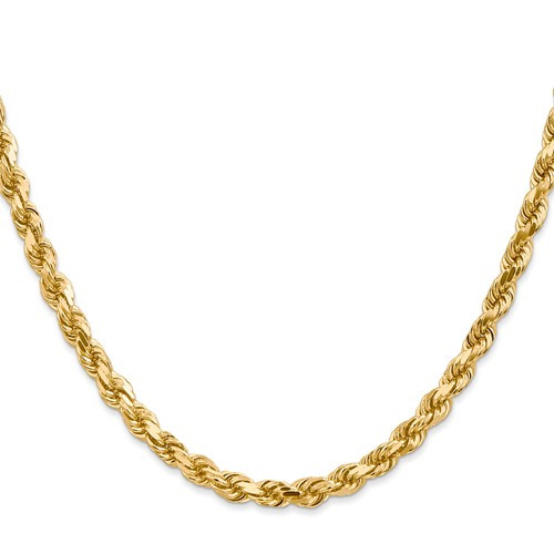 5.0mm Dia Cut Solid Rope Necklace 38 inch