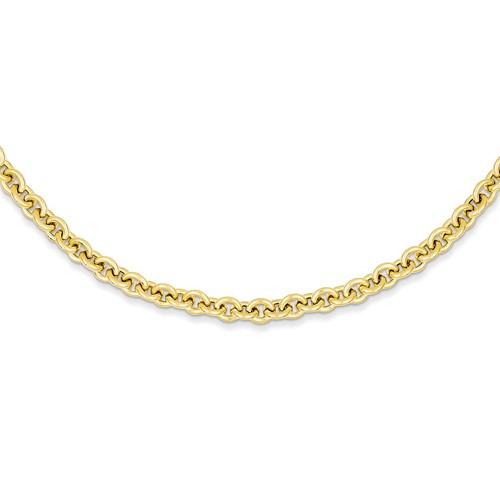 5.0mm Semi Solid Rolo Necklace 38 inch