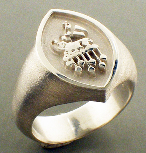 PCC ring. 19x14mm. Weighs 12.6 grams in sterling silver. Gospel According to Ellis
