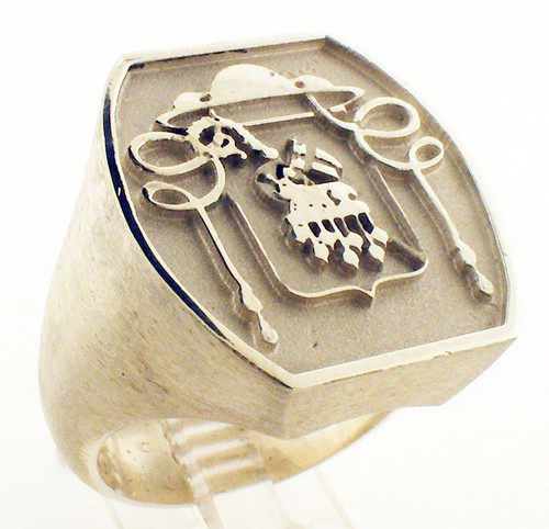 Overseer Ring: Lamb of God.23x21mmWeighs 25.6 grams in sterling silverGospel According to Ellis Collection