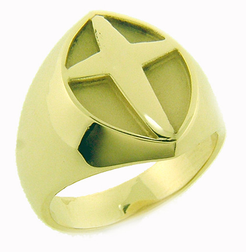 Cross ring with plain sides.