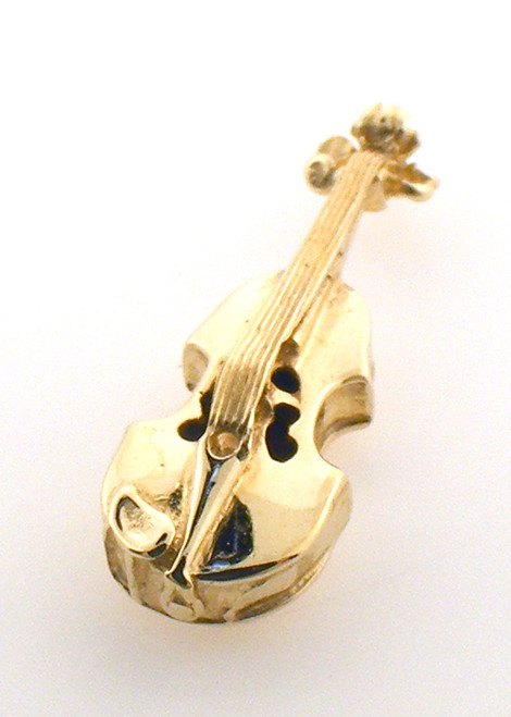 14 karat yellow gold violin charm weighing 1.9 grams