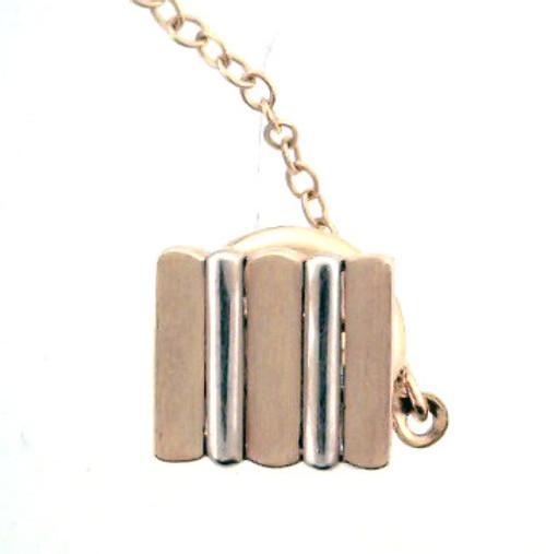 14 karat 2 tone tie tack weighing 1.6 grams. Original Price $120 - 40% = $72